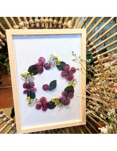 cadre fleurs séchées Apolline