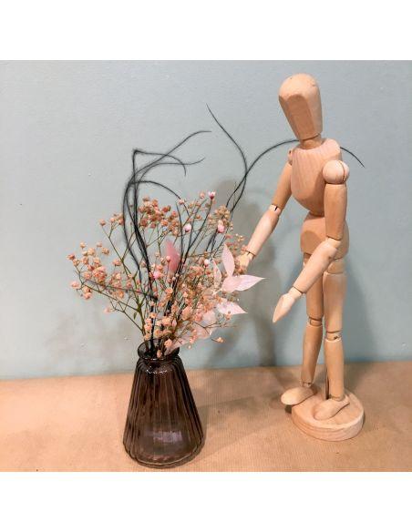 mini vase noir