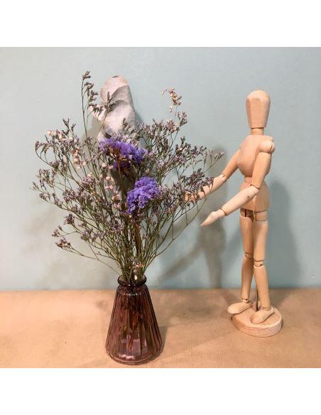 bouquet rose dans son mini vase rose